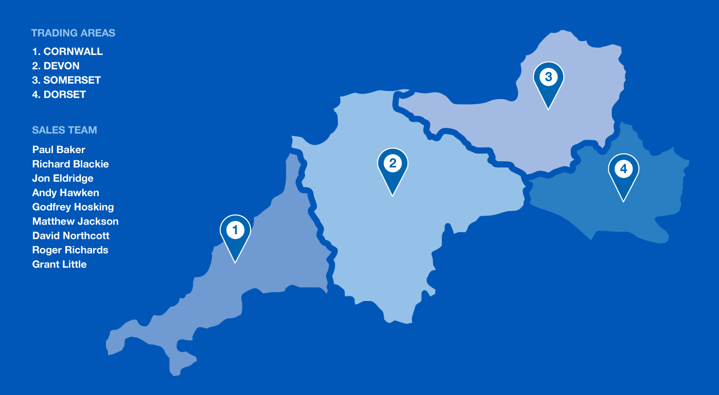 Three Counties Feeds Trading Areas